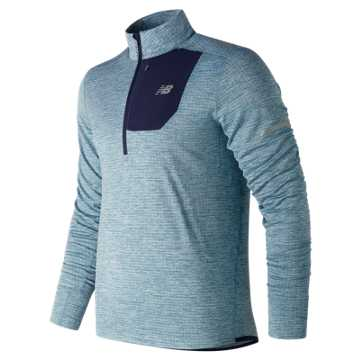 New Balance NB Heat Quarter Zip, Bluefog