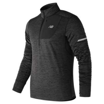 New Balance NB Heat Quarter Zip, Heather Charcoal
