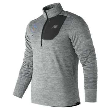 New Balance NYC Marathon NB Heat Quarter Zip, Athletic Grey