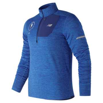 New Balance NYC Marathon NB Heat Quarter Zip, Laser Blue Heather