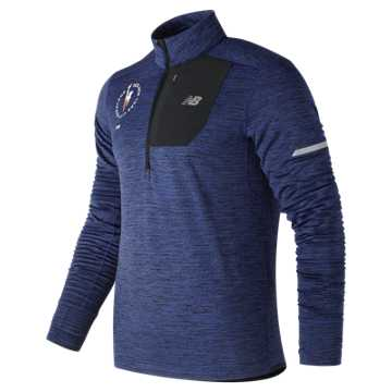 New Balance NYC Marathon NB Heat Quarter Zip, Techtonic Blue Heather