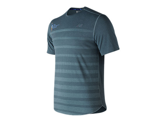 nyc marathon q speed jacquard training short sleeve