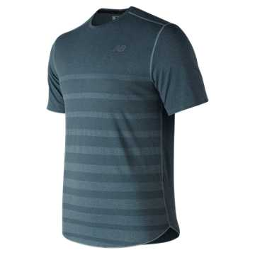 New Balance Q Speed Jacquard Short Sleeve, Blue Smoke Heather