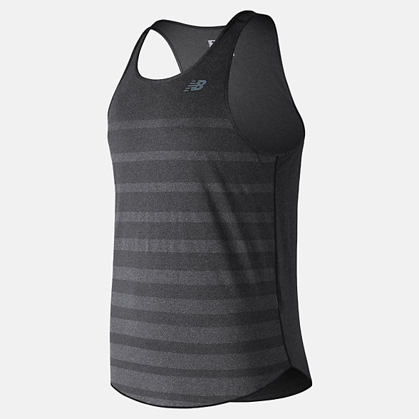 New Balance Q Speed Jacquard Tank, MT83251BKH