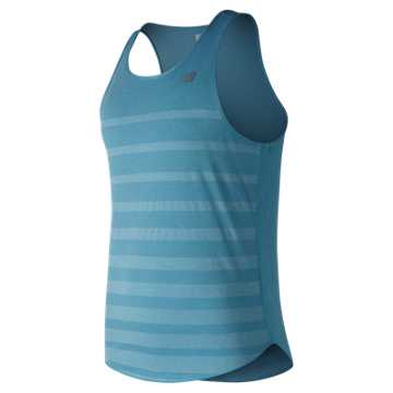 New Balance Q Speed Jacquard Tank, Cadet Heather