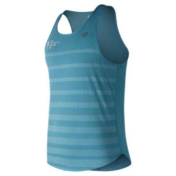 New Balance NYC Marathon Q Speed Jacquard Tank, Cadet Blue
