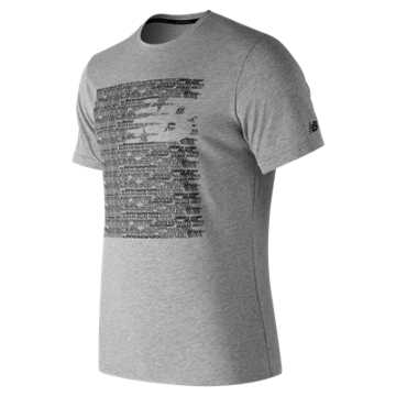 New Balance Believe Heather Tech Tee, Athletic Grey