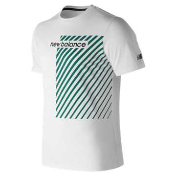 New Balance Baseline Heather Tech Tee, White