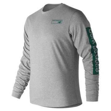 New Balance NB Athletics Long Sleeve Tee, Athletic Grey