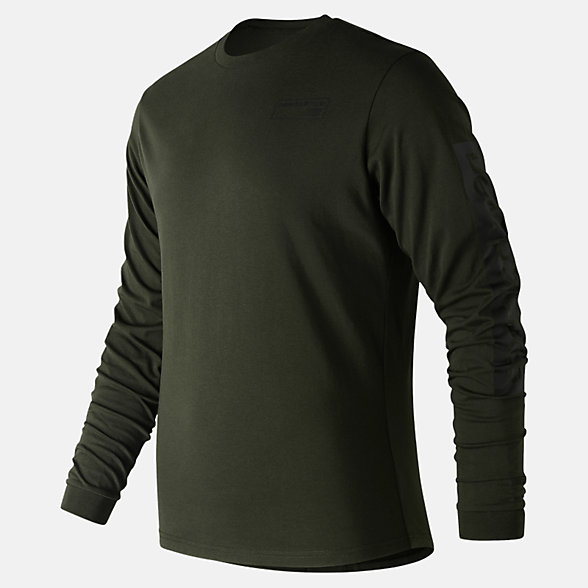 New Balance NB Athletics Long Sleeve Tee, MT83526RSN