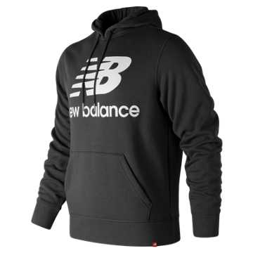 New Balance Essentials Brushed Pullover Hoodie, Black