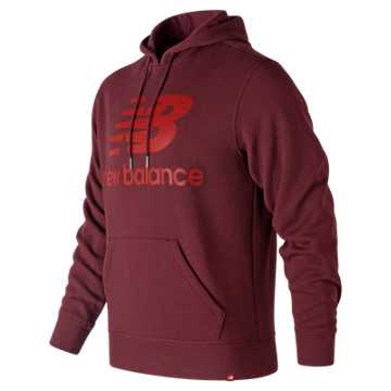 New Balance Essentials Brushed Pullover Hoodie, Burgundy