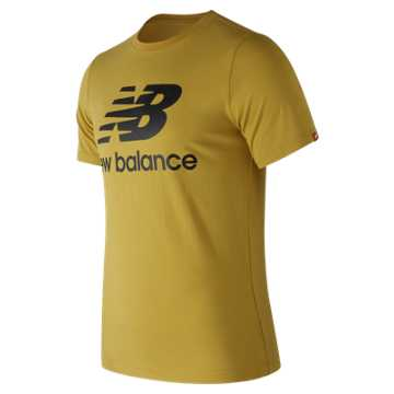 New Balance Essentials Stacked Logo Tee, Brass