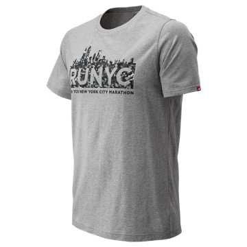 New Balance NYC Marathon Tile Tee, Athletic Grey