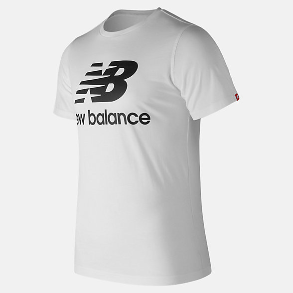 New Balance Essentials Stacked Logo Tee, MT83530WT