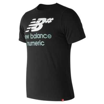New Balance NB Numeric Stacked Logo Tee, Black