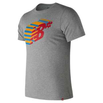 New Balance NB Numeric Console Tee, Athletic Grey