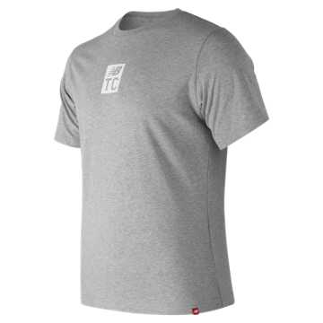 New Balance Essentials NB Track Club Tee, Athletic Grey