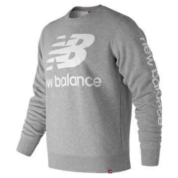 New Balance Essentials NB Logo Crew, Athletic Grey