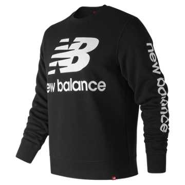 New Balance Essentials NB Logo Crew, Black
