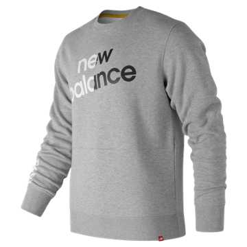 New Balance Essentials Linear Brushed Crew, Athletic Grey