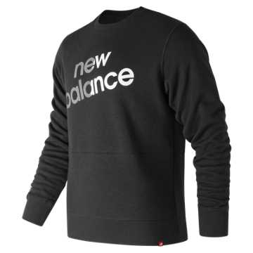New Balance Essentials Linear Brushed Crew, Black