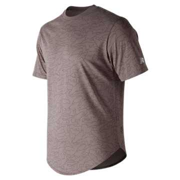 New Balance 247 Sport Tee 3, Sea Salt Print