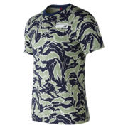 New Balance NB Athletics Tee, Camo Green