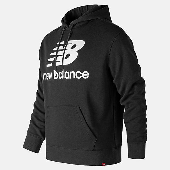 New Balance Essentials Stacked Pullover Hoodie, MT83585BK
