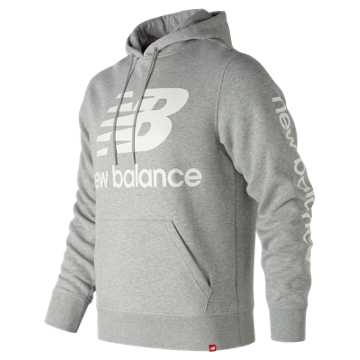 New Balance Essentials NB Logo Hoodie, Athletic Grey