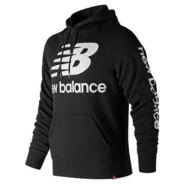 New Balance Essentials NB Logo Hoodie, Black