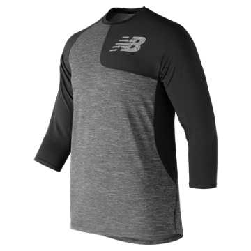 New Balance Asym 2.0 Left 3/4 Sleeve, Black