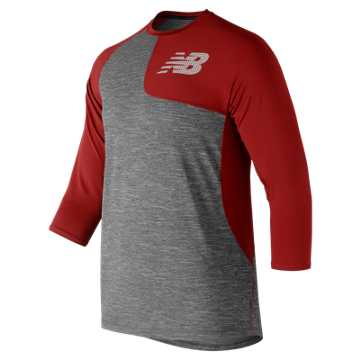 New Balance Asym 2.0 3/4 Sleeve, Left Handed - Team Red