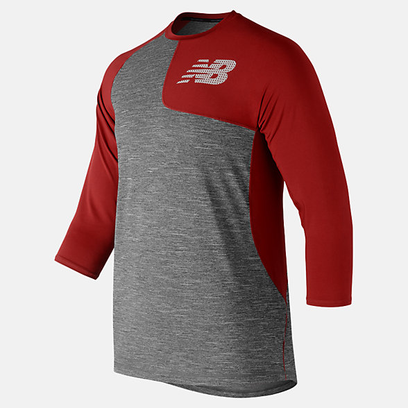 New Balance Asym 2.0 Left 3/4 Sleeve, MT83704LREP