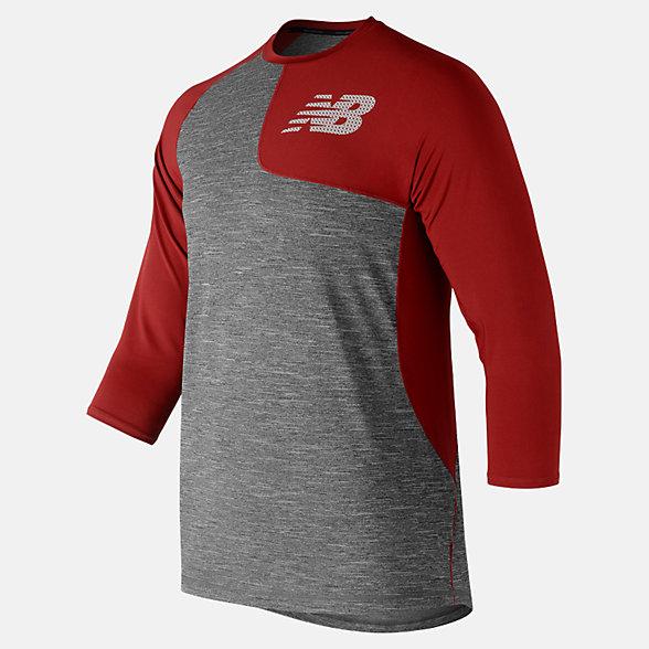 New Balance T-shirt asymétrique de gaucher à manches trois quarts 2.0, MT83704LREP