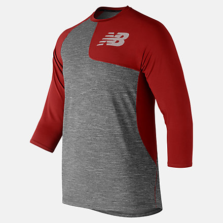 New Balance Asym 2.0 Left 3/4 Sleeve, MT83704LREP image number null