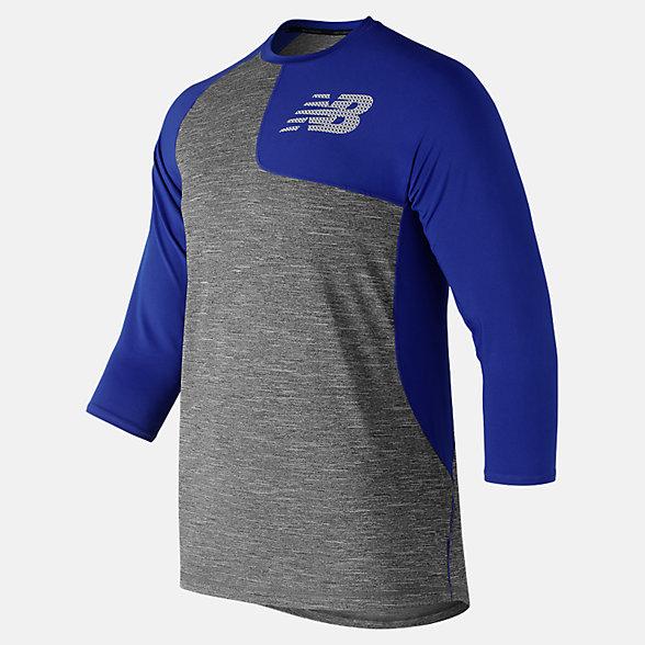New Balance T-shirt asymétrique de gaucher à manches trois quarts 2.0, MT83704LTRY