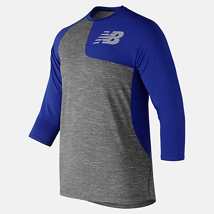 New Balance Asym 2.0 Left 3/4 Sleeve, MT83704LTRY image number null
