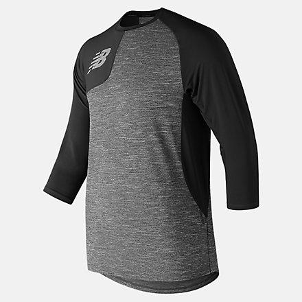 New Balance T-shirt asymétrique de droitier à manches trois quarts 2.0, MT83704RBK image number null
