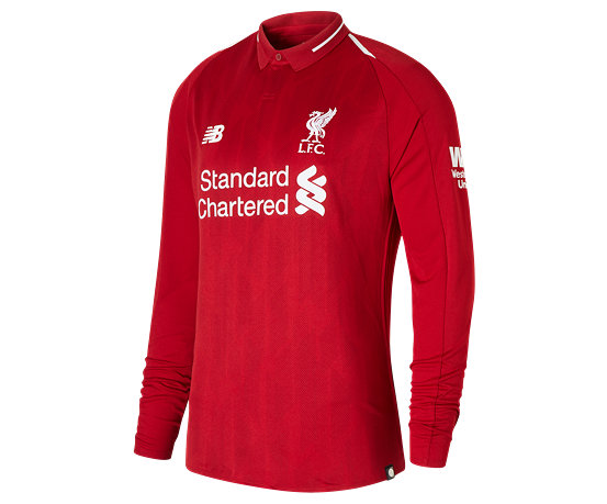 cdfe6f5ea Men s Apparel Size   Fit Chart. LFC Mens Salah Home Long Sleeve EPL Patch  Jersey