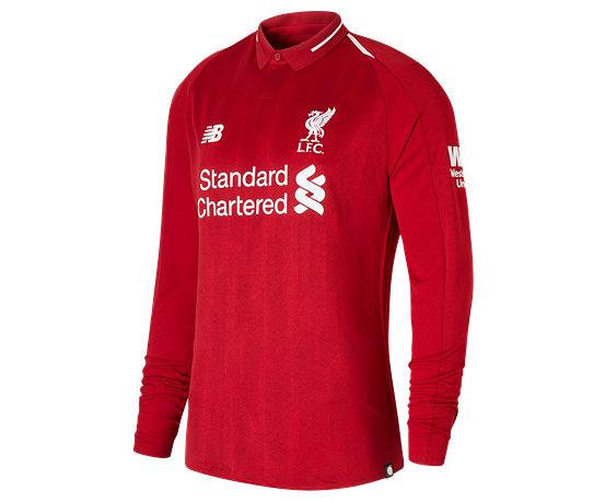 0d97c757ff8 LFC Mens Salah Home Long Sleeve EPL Patch Jersey