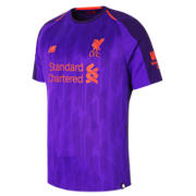 NB LFC Mens Salah Away Short Sleeve EPL Patch Jersey, Deep Violet