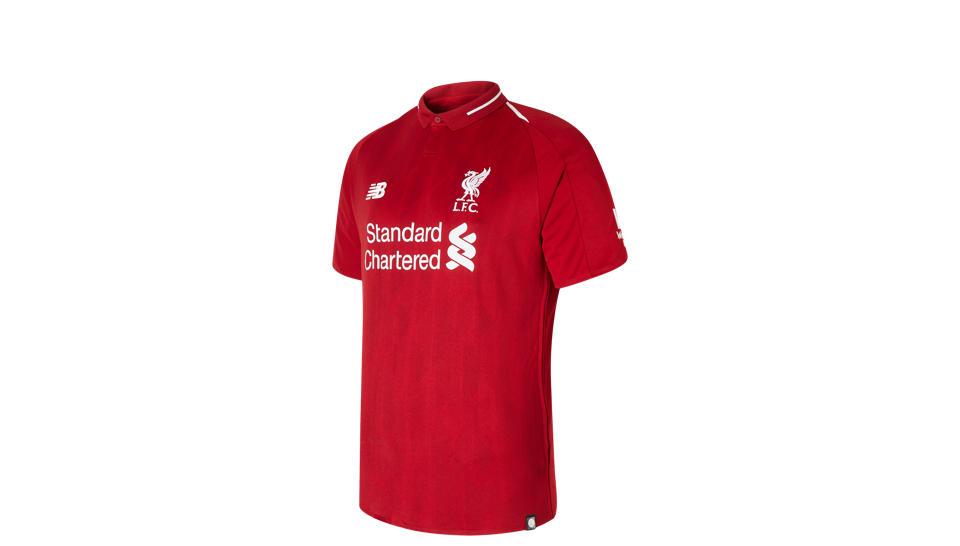 LFC Mens Firmino Home Short Sleeve EPL Patch Jersey - Men s 839817 ... 2e7f164e7