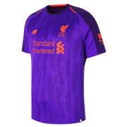 NB LFC Mens Firmino Away Short Sleeve EPL Patch Jersey, Deep Violet