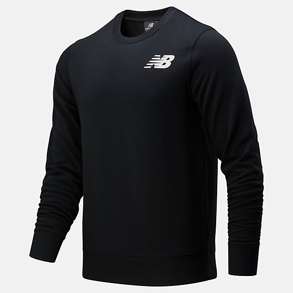 New Balance Core Fleece Crew, MT83981BK