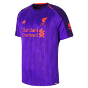 NB LFC Mens Mane Away Short Sleeve EPL Patch Jersey, Deep Violet