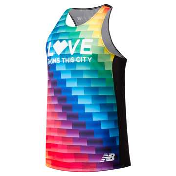 New Balance Pride Singlet, Black with Multi Color