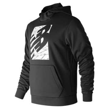 New Balance NB Block Corefleece Hoodie, Black