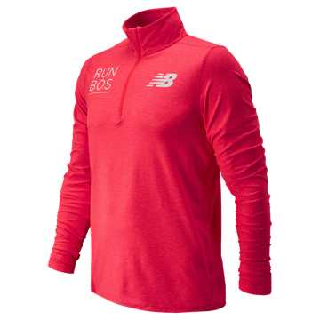 New Balance Boston Quarter Zip, Bright Cherry