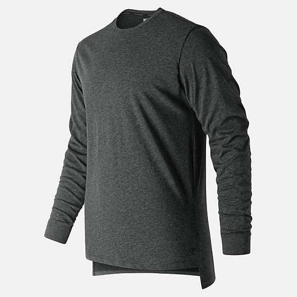New Balance R.W.T. Long Sleeve Heathertech Tee, MT91048BKH